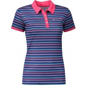 Dámské triko s límečkem ALPINE PRO ULRICO 2 TMAVĚ MODRÁ