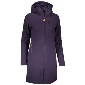 Dámský softshellový kabát ALPINE PRO ASHERAH INS. TMAVĚ FIALOVÁ