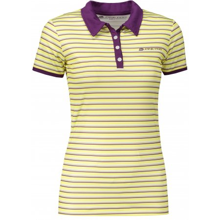 Dámské triko s límečkem ALPINE PRO ULRICO 2 SVĚTLE BÉŽOVÁ