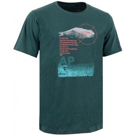 Pánské triko s krátkým rukávem ALPINE PRO NIL 2 TMAVĚ ZELENÁ