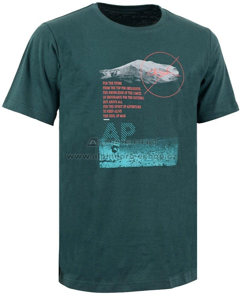 Pánské triko s krátkým rukávem ALPINE PRO NIL 2 TMAVĚ ZELENÁ ... bff9f08735