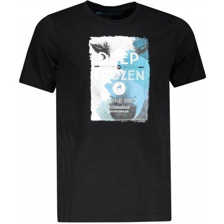Pánské triko s krátkým rukávem ALPINE PRO ARESJON ČERNÁ