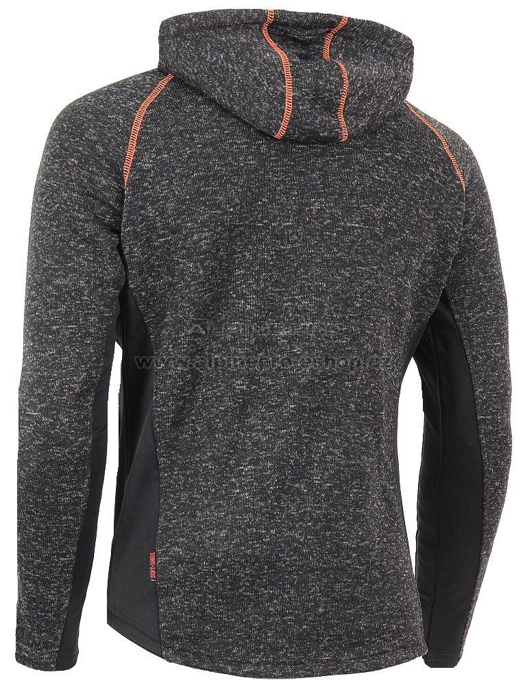 1d53d0ca546 Pánský svetr s kapucí ALPINE PRO SILJAN ČERNÁ velikost  S ...