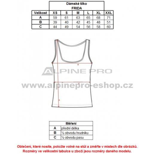 Dámské tílko ALPINE PRO FRIDA LTSJ243 TMAVĚ FIALOVÁ velikost  S ( 36 ... a7a6a32cd0
