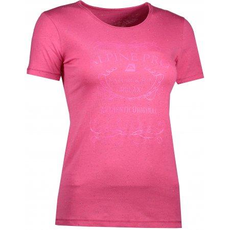 Dámské triko s krátkým rukávem ALPINE PRO ROZENA 3 LTSJ193 RŮŽOVÁ