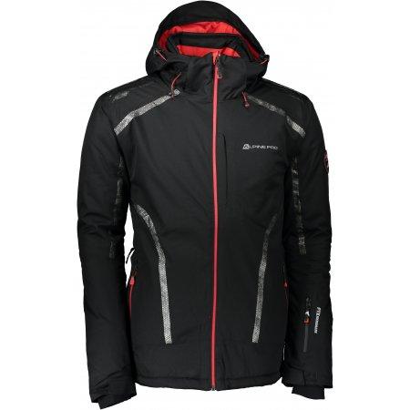 Pánská lyžařská bunda ALPINE PRO MIKAER MJCK217 ČERNÁ