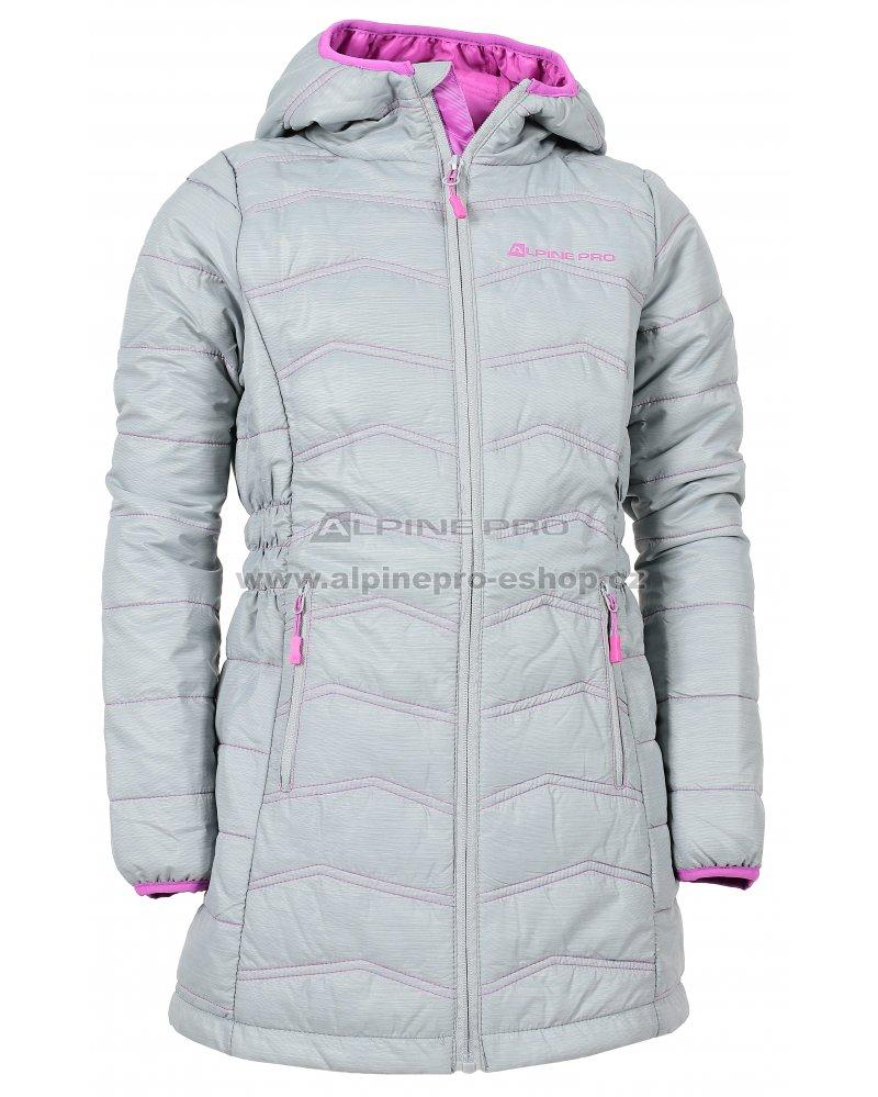 d6b6af2cf844 Dětský dlouhý kabát ALPINE PRO ADRIANNO 3 KCTK007 ŠEDÁ velikost  92 ...