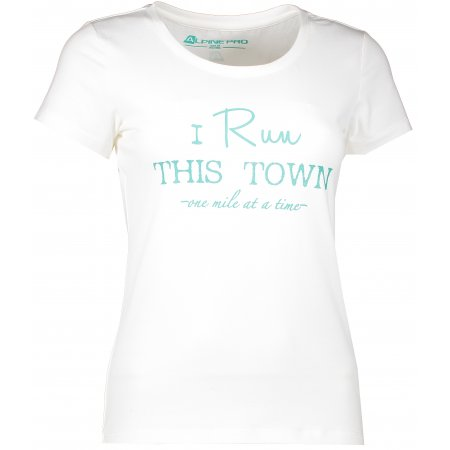 Dámské tričko s krátkým rukávem ALPINE PRO BUFFA LTSJ333 BÍLÁ