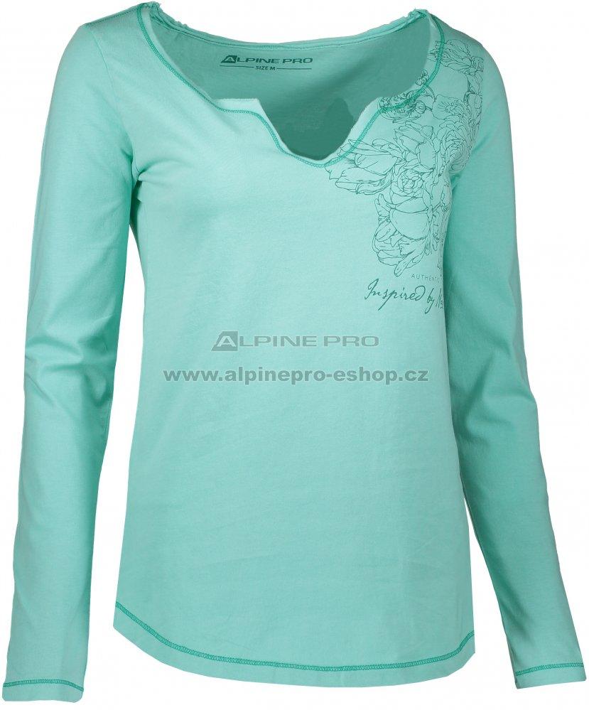 Dámské triko s dlouhým rukávem ALPINE PRO TIANA LTSK226 ZELENÁ ... 85b45677d3