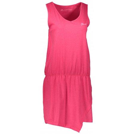 Dámské šaty ALPINE PRO YAVARA 2 LSKL095 TMAVĚ RŮŽOVÁ