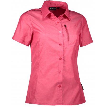 Dámská košile s krátkým rukávem ALPINE PRO LURINA 2 LSHL015 TMAVĚ RŮŽOVÁ