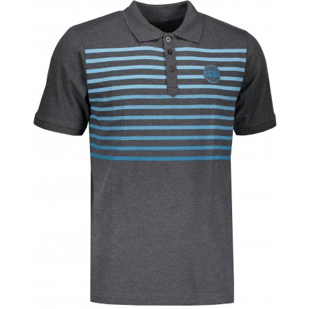 Pánské tričko s límečkem ALPINE PRO HEROLD 4 MTSL260 TMAVĚ ŠEDÁ