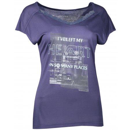 Dámské triko s krátkým rukávem ALPINE PRO CURLA LTSL384 TMAVĚ MODRÁ
