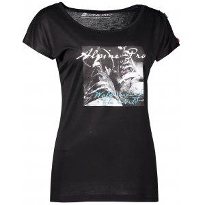Dámské triko s krátkým rukávem ALPINE PRO RICCA LTSL381 ČERNÁ