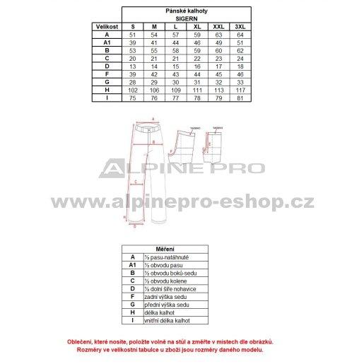 Pánské tepláky ALPINE PRO SIGERN MPAL270 ČERNÁ