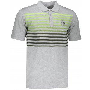 Pánské tričko s límečkem ALPINE PRO HEROLD 4 MTSL260 SVĚTLE ŠEDÁ