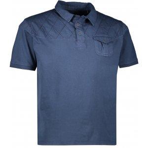 Pánské tričko s límečkem ALPINE PRO BORK MTSL297 TMAVĚ MODRÁ