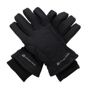 Zimní softshellové rukavice ALPINE PRO KAHUG UGLM006 ČERNÁ