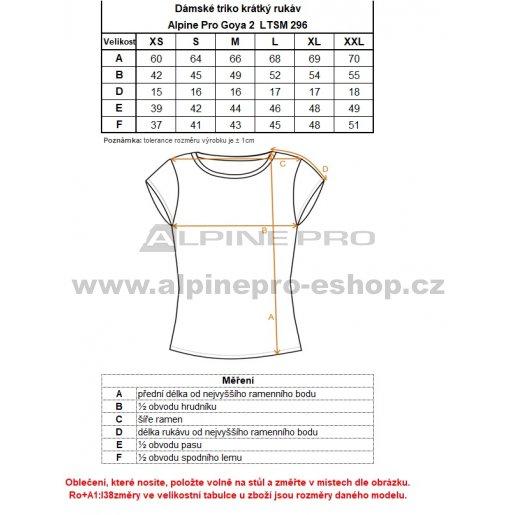 Dámské triko ALPINE PRO GOYA 2 LTSM296 ČERNÁ