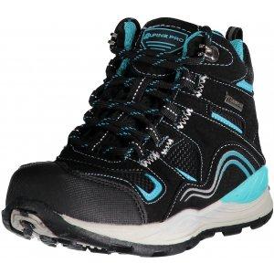 Dětská turistická obuv ALPINE PRO SIBEAL KBTM159 ČERNÁ