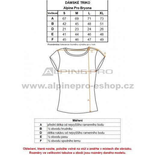 Dámské triko ALPINE PRO BRYONA LTSM443 ČERNÁ