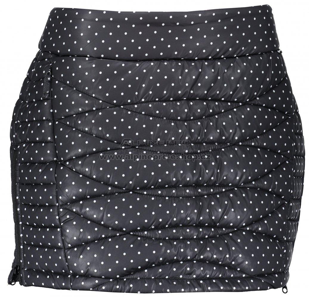 Dámská zateplená sukně ALPINE PRO FELIPA 2 LSKM099 ČERNÁ velikost ... 9237b0162a