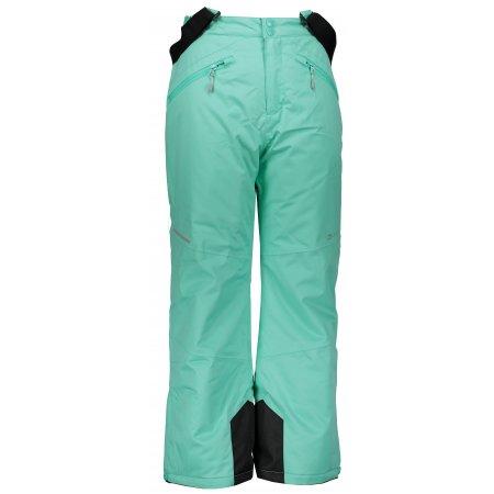 Dětské lyžařské kalhoty ALPINE PRO ANIKO 2 KPAM122 SVĚTLE ZELENÁ