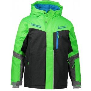 Dětská lyžařská bunda ALPINE PRO SARDARO KJCM122 ZELENÁ