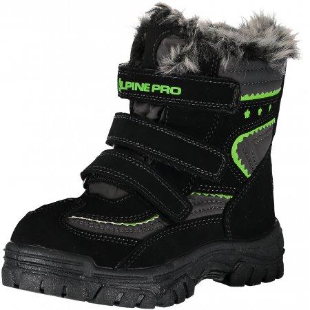 Dětské zimní boty ALPINE PRO PETRIO KBTM170 ČERNÁ