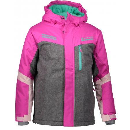 Dětská lyžařská bunda ALPINE PRO SARDARO KJCM122 RŮŽOVÁ