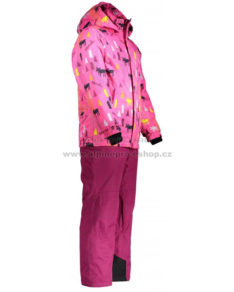 Dětský zimní set ALPINE PRO PIERO 3 KOTM014 FIALOVÁ velikost  104 ... b3d2da442f7