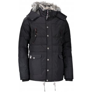 Pánská zimní bunda ALPINE PRO ICYB 4 MJCM284 ČERNÁ