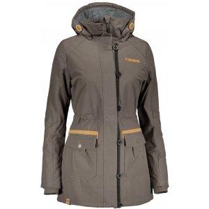 Dámský kabát ALPINE PRO EDITE 4 LCTM066 KHAKI