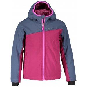 Dětská zimní softshellová bunda ALPINE PRO NOOTKO INS. KJCM103 FIALOVÁ
