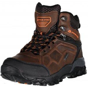 Pánská turistická obuv ALPINE PRO BABBL UBTM173 TMAVĚ HNĚDÁ
