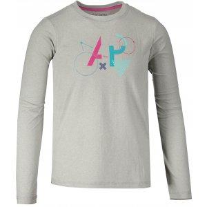 Dětské triko s dlouhým rukávem ALPINE PRO TEOFILO 6 KTSM125 SVĚTLE ŠEDÁ