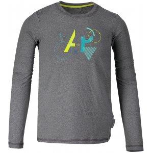 Dětské triko s dlouhým rukávem ALPINE PRO TEOFILO 6 KTSM125 TMAVĚ ŠEDÁ