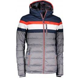 Pánská péřová bunda ALPINE PRO NEITH MJCM311 TMAVĚ MODRÁ