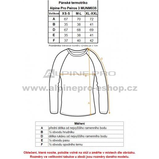 02487c25cc1 Pánské termo triko ALPINE PRO PEIROS 3 MUNM035 ČERNÁ velikost  XS-S ...