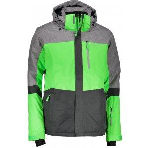 Pánská lyžařská bunda ALPINE PRO SARDAR 2 MJCM308 ŠEDOZELENÁ