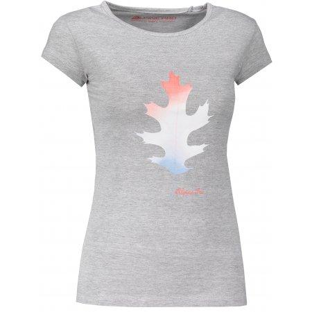 Dámské triko ALPINE PRO BORRA LTSM460 SVĚTLE ŠEDÁ
