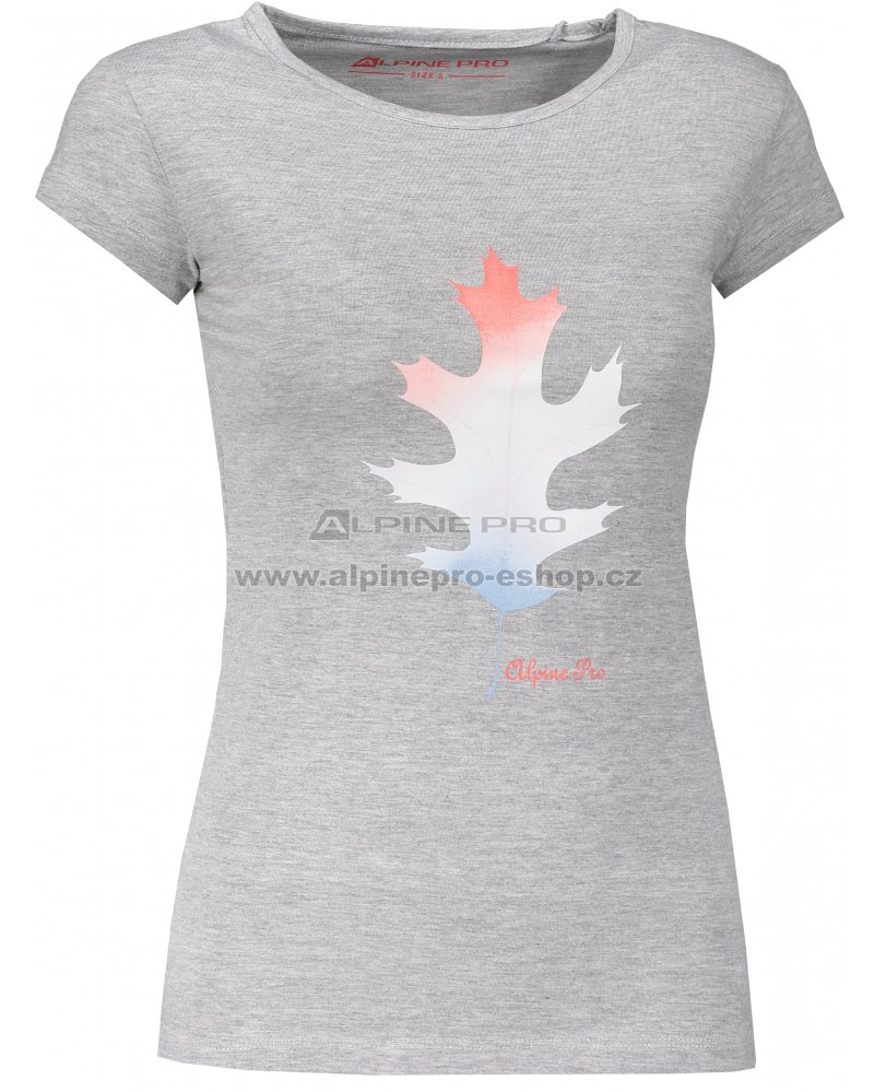 Dámské triko ALPINE PRO BORRA LTSM460 SVĚTLE ŠEDÁ velikost  L ... 2ffebade79