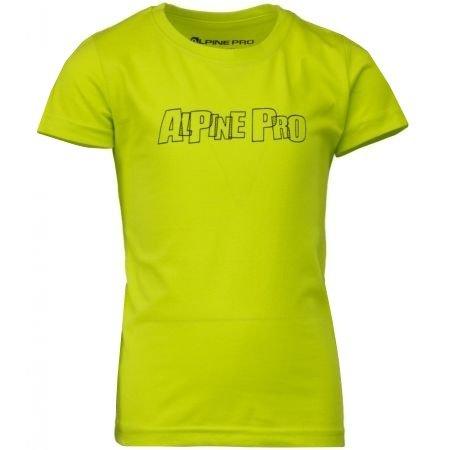 Dětské triko ALPINE PRO VONO KTSM170 ZELENÁ