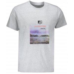 Pánské tričko s krátkým rukávem ALPINE PRO TIBERIO 7 MTSN364 SVĚTLE ŠEDÁ