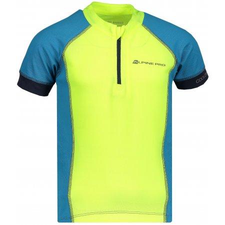 Dětské funkční tričko s krátkým rukávem ALPINE PRO SORANO KTSN163 SVĚTLE ZELENÁ