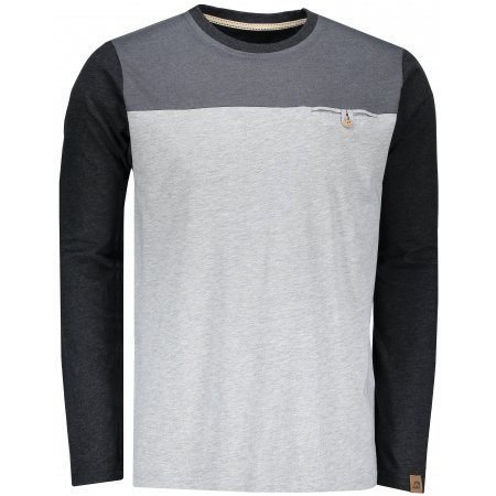 Pánské triko s dlouhým rukávem ALPINE PRO PERKOS 4 MTSN360 SVĚTLE ŠEDÁ