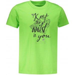 Pánské tričko s krátkým rukávem ALPINE PRO UNEG 6 MTSN354 SVĚTLE ZELENÁ