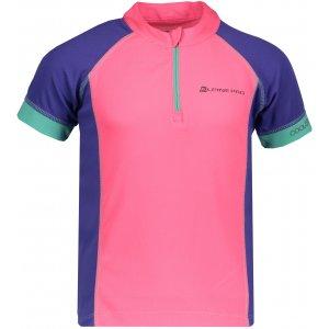 Dětské funkční tričko s krátkým rukávem ALPINE PRO SORANO KTSN163 RŮŽOVÁ