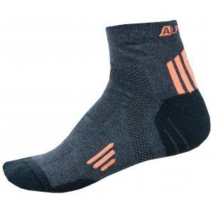 Ponožky ALPINE PRO AXION 3 USCN052 ORANŽOVÁ