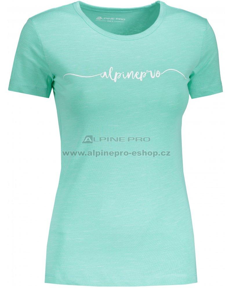 9c11e50647af Dámské tričko s krátkým rukávem ALPINE PRO ROZENA 5 LTSN428 ZELENÁ ...